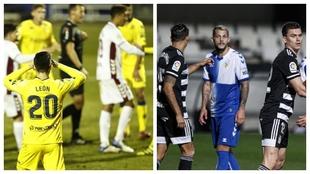 Albacete y Alcorcón, por un lado, y Cartagena y Sabadell, por otro,...