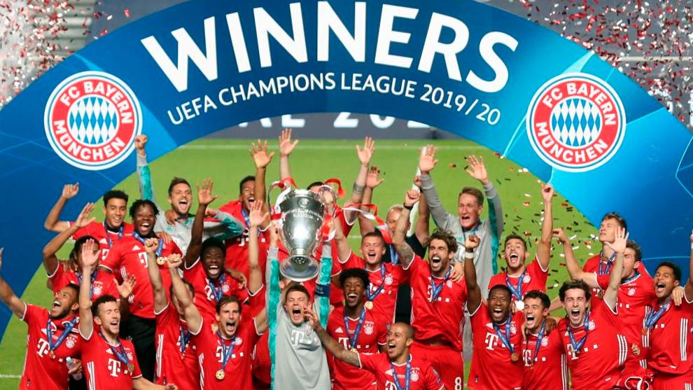 MManuel Neuer levanta la sexta Copa de Europa del Bayern después de ganar al PSG por 0-1