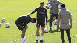 Suárez, en el momento de la lesión.