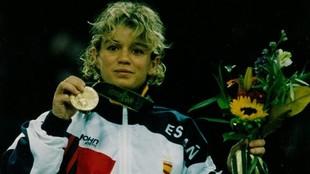 Yolanda Soler, en el podio
