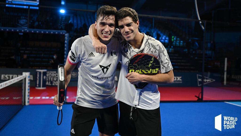 Ale Galán y Juan Lebrón, en el Estrella Damm Menorca Master Final