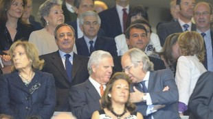 Laporta, en el palco del Bernabéu, en una imagen de archivo.