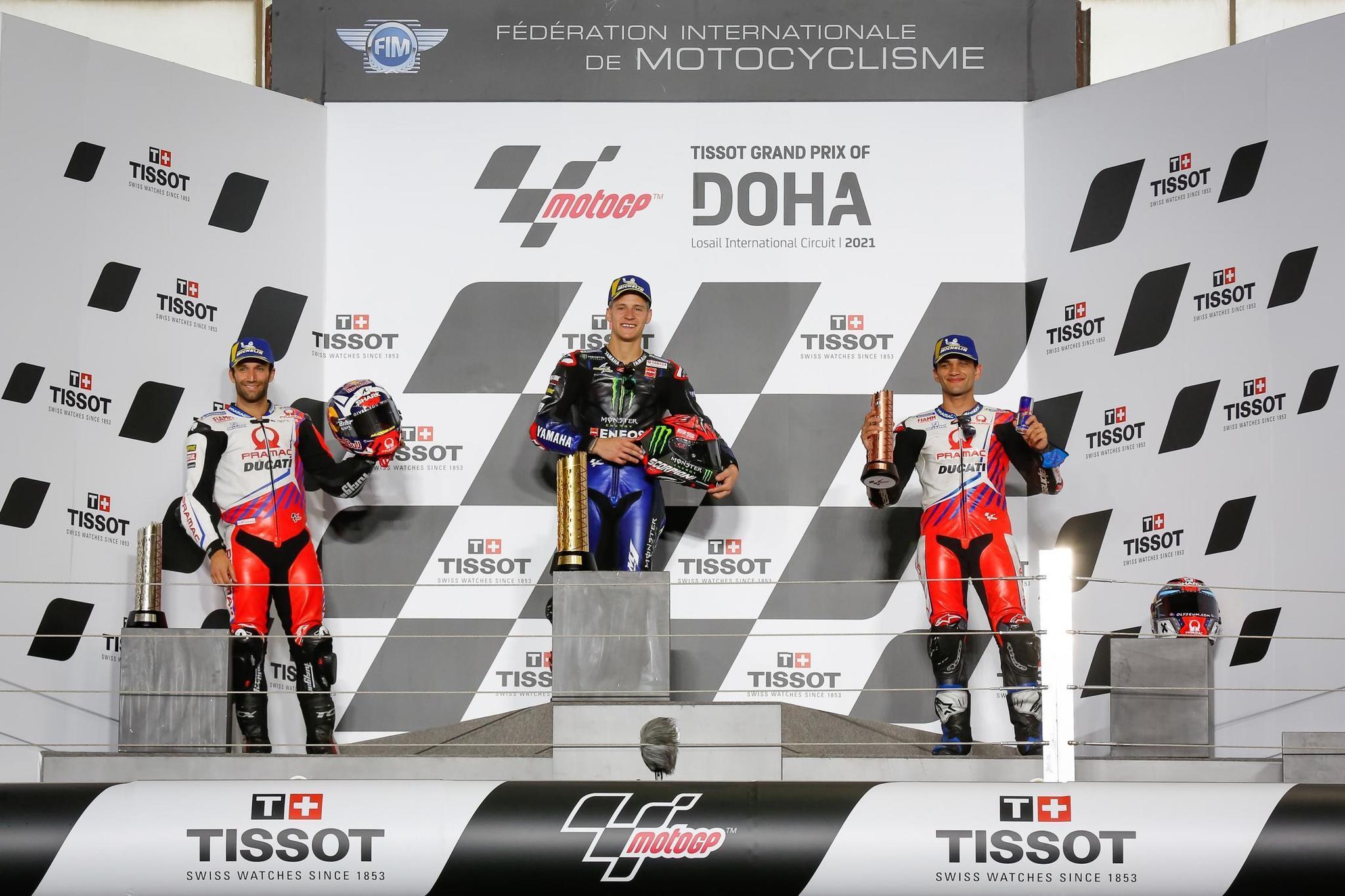 Fabio lt;HIT gt;Quartararo lt;/HIT gt;, ganador del GP de Doha de MotoGP Firma: MotoGP.com