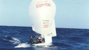 Theresa Zabell y Begoña Via-Dufresne, en una regata de clasificación...