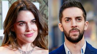 Adriana Ugarte y David Broncano, fotografiados juntos en Madrid /