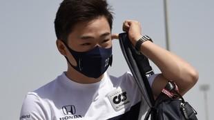 Yuki Tsunoda, en el Gran Premio de Bahréin.