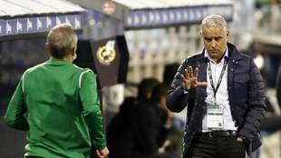 Sergio Pellicer, durante el partido del Málaga en La Romareda