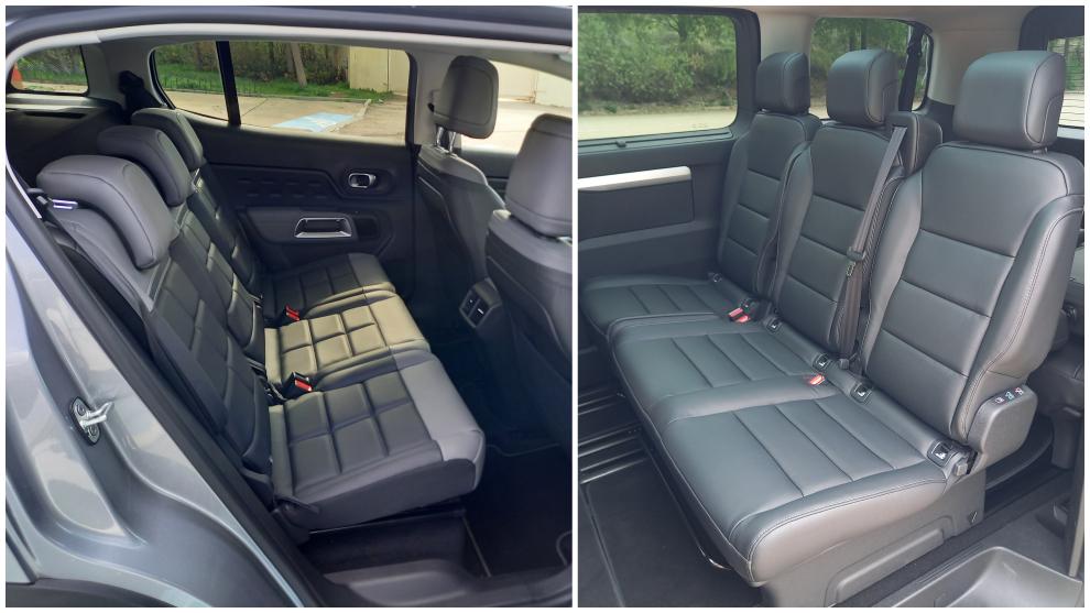 El C5 Aircross Hybrid es un SUV de 5 plazas reales y el ë-SpaceTourer, una furgoneta de hasta 9 plazas.