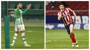 Borja Iglesias y Luis Suárez, bajas en el Betis-Atlético