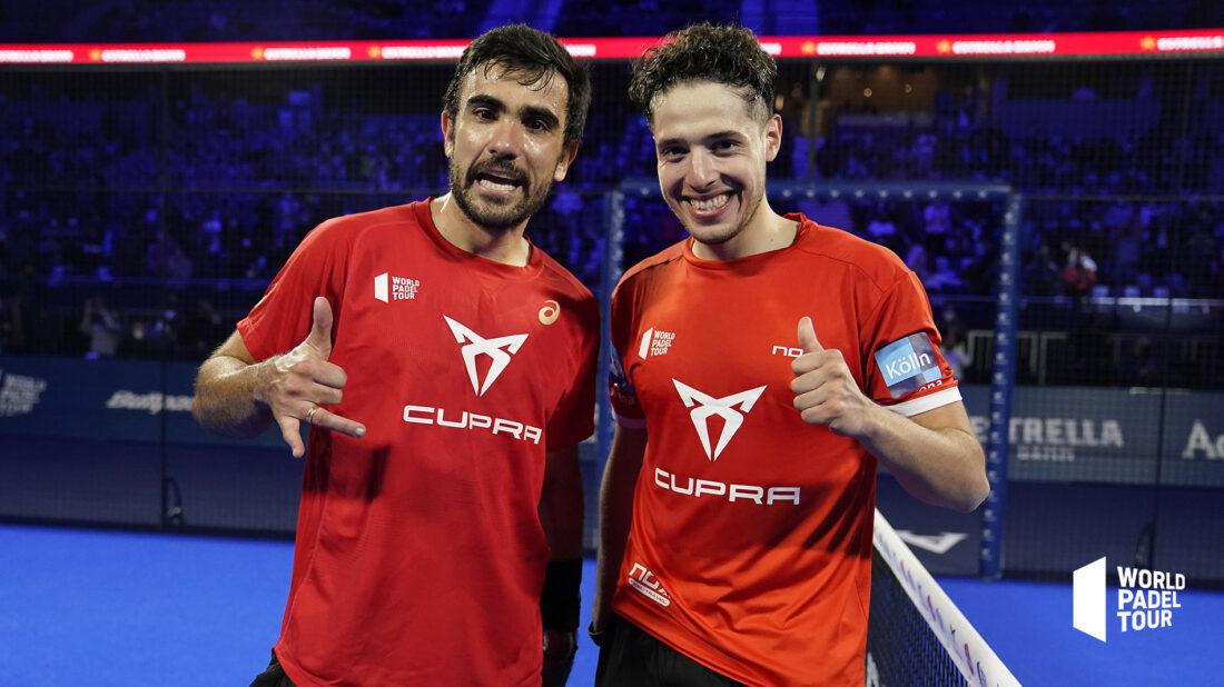 Lima y Tapia celebran su victoria en cuartos.