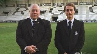 Antonio y Franco Caselli, dirigentes del Burgos CF