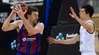Pau Gasol trata de superar la defensa de Vladimir Lucic.