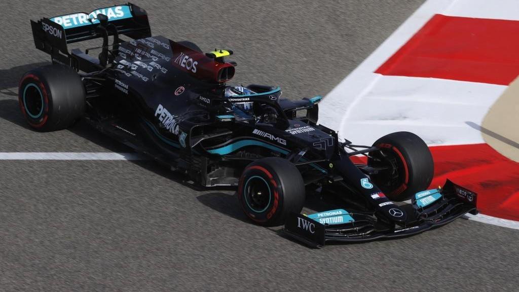 Bottas, durante el GP de Bahréin 2021.