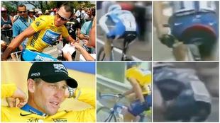 Los gestos en la nalga que 'delatan' a Lance Armstrong por el uso de motores