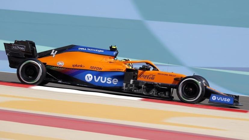 Lando Norris, durante el GP de Bahréin donde acabó cuarto.
