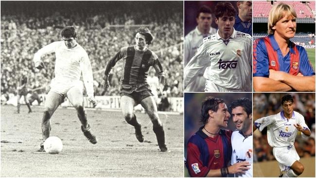 Real Madrid Barcelona El Clasico - Camacho Schuster Del Bosque...