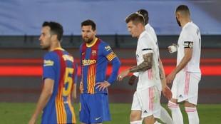 Messi, durante el encuentro contra el Real Madrid.