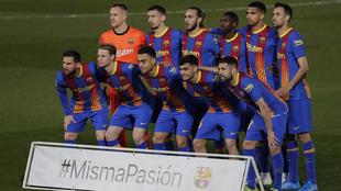 Once del Barça en Valdebebas