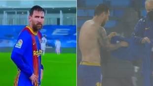 El chaparrón de Valdebebas dejó así a Messi: ¡temblando de frío ante la cámara!