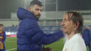 Luka Modric y Piqué, tras el encuentro