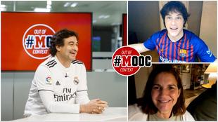 Pepe, Jordi y Samantha, los tres presentadores de MasterChef, viendo...
