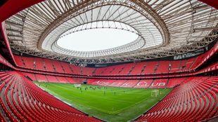Panoramica del estadio de San Mamés, en Bilbao