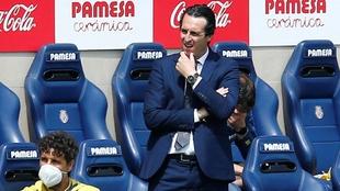 Emery, durante el partido ante Osasuna.