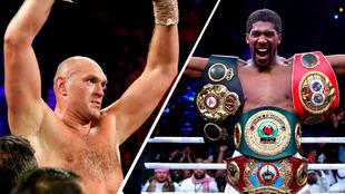 Anthony Joshua y Tyson Fury reciben oferta para pelear por los títulos de peso pesado en julio