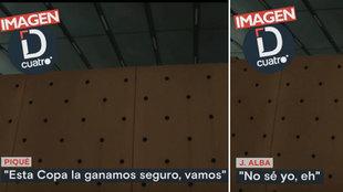 La 'pillada' a Jordi Alba dudando de ganar la Copa en una charla con Piqué