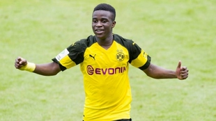 Moukoko with Borussia Dortmund.
