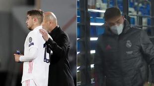 Fede, con Zidane y cojeando tras el Cláscio