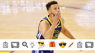 Stephen Curry tras superar el récord anotador de Wilt Chamberlain con...