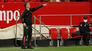 Julen Lopetegui, durante un partido del Sevilla.
