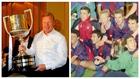 Koeman con la Copa de 2008 y con la del 90.