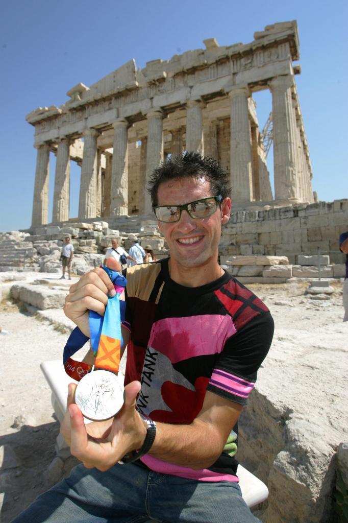 Paquillo, con su medalla en el Partenón