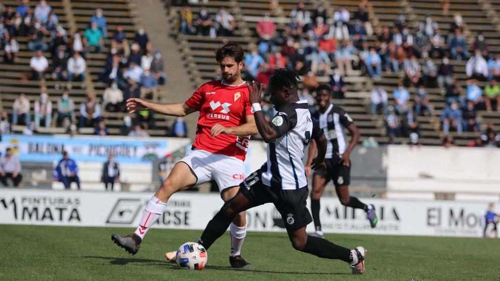 Koroma durante un partido contra el Real Murcia.