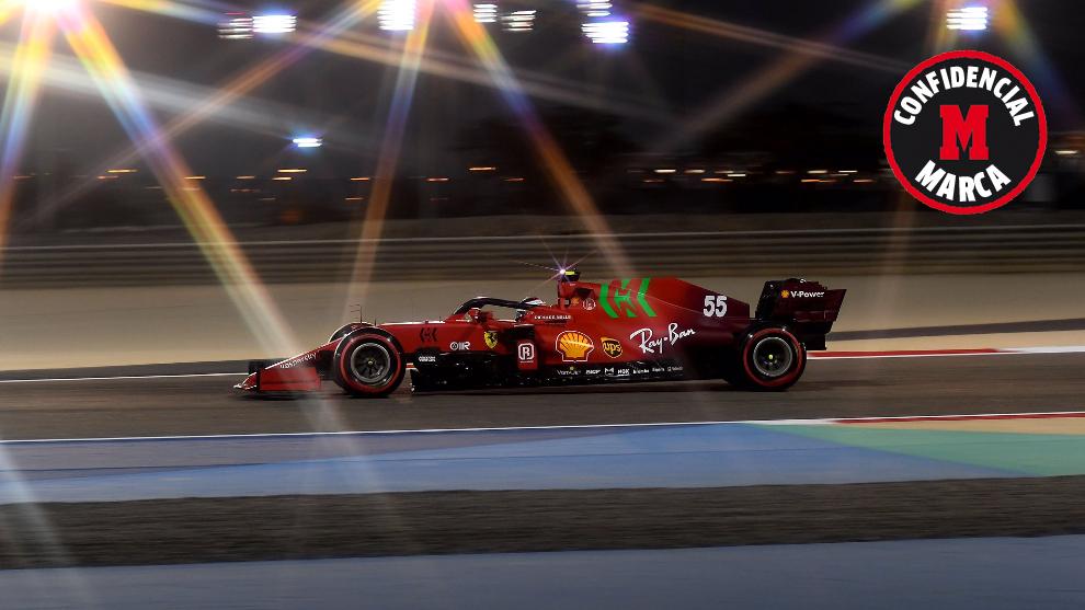 Carlos Sainz, con el SF21, en el Gran Premio de Bahréin