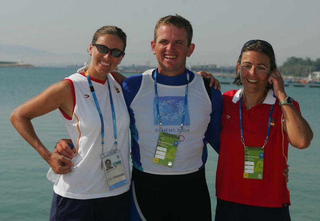 Natalia Vía-Dufresne, Rafael Trujillo y Sandra Azón, medallistas en vela en Atenas 2004