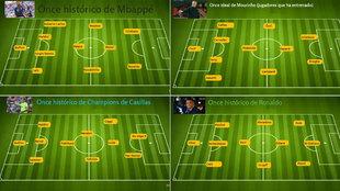 Mbappé, Ibra, Ronaldo se mojan... ¡vaya onces eligen!