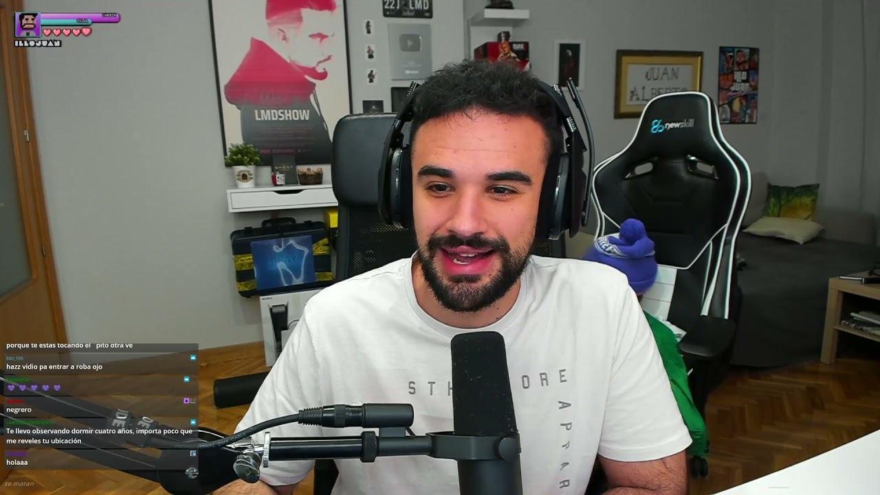 IlloJuan durante un directo en Twitch