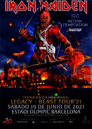 Iron Maiden retrasa su concierto en Barcelona hasta el 29 de julio de 2022