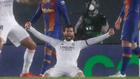 Nacho Fernández celebra la victoria contra el Barça