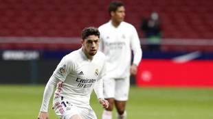 Fede Valverde, en un partido del Real Madrid.
