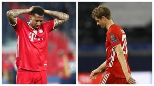 Un montaje fotográfico con imágenes de Boateng y Müller.