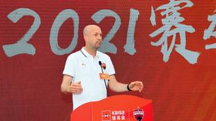 Jordi Cruyff durante un evento público la semana pasada del Shenzhen...