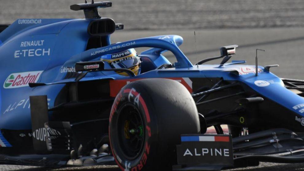 Fernando Alonso, en el Alpine en Bahréin.