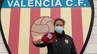 Bea Beltrán, con el micrófono de Radio MARCA.