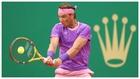 Rafa Nadal en el partido de segunda ronda en Montecarlo contra...