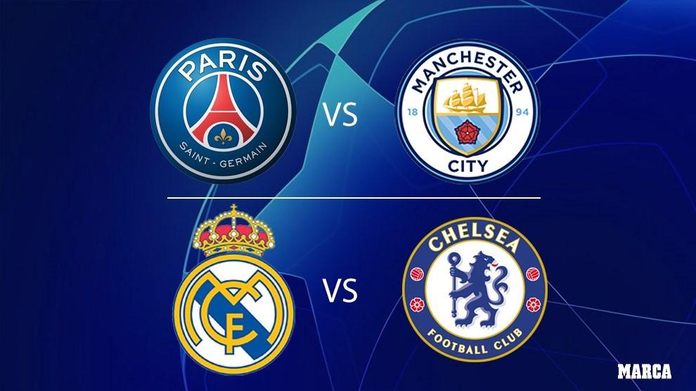 Madrid-Chelsea y PSG-City, las semifinales