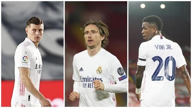 Kroos, Modric y Vinicius, en peligro